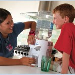 kids at the home water cooler